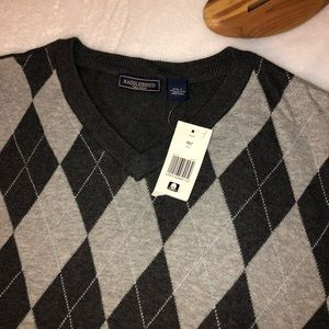 🎁New Grey tones Argyle Sweater Vest